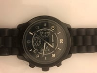 round black chronograph watch with black strap Silver Spring, 20906