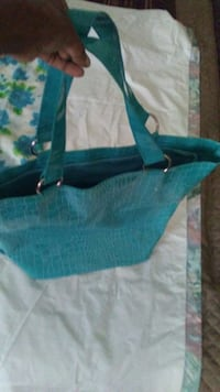 New turquoise purse