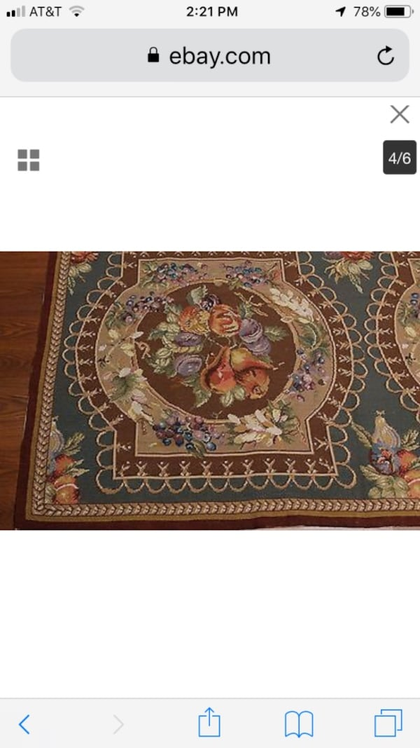 Tapestry wool rug never used  f6947b91-56d6-4a7e-a77d-ab2b54f93be2