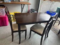 Solid wood kitchen table & 2 chairs North Vancouver, V7M 1K7