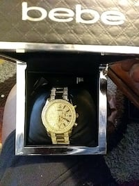 round gold Michael Kors chronograph watch with link bracelet Milwaukee, 53206