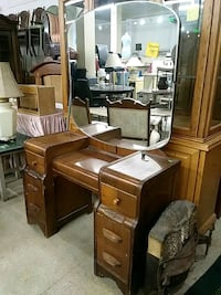 brown wooden dresser with mirror London, N6A 1G1