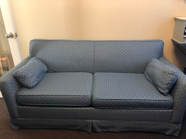 Admirable Blue Pullout Couch Bed Machost Co Dining Chair Design Ideas Machostcouk