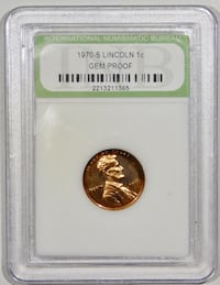 1970-S GEM Proof Lincoln Cent ! GEM Uncirculated.