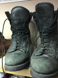 pair of black leather work boots Dartmouth, B2W