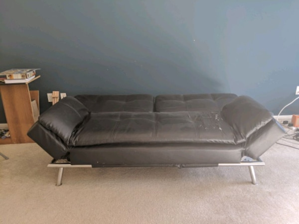 Used Euro Lounger Leather Sofa Bed For Sale In San Jose Letgo