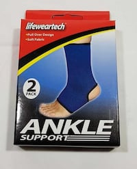 PACKAGE OF 2 ANKLE SUPPORT PULL OVER DESIGN SOFT FABRIC NEW Oshawa