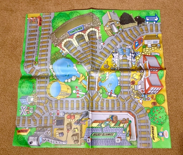 Thomas the Tank Engine Train Take & Play Double Sided Mat - Map Toy Washable