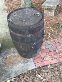 Two whiskey barrels