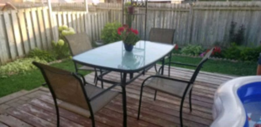 Patio Set Rectangular table and 4 chairs  b8a5574c-b352-4ab3-915e-c3b90c5f006d
