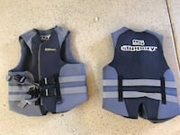 two black-and-gray Slippery life vests Florence, 85132