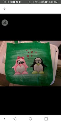 Hand painted shopping bag