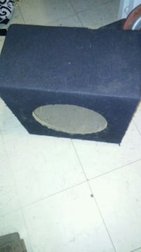 black and gray subwoofer enclosure Cabot, 72023