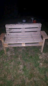 brown wooden bench with table Jamestown, 38556