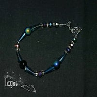 silver and blue beaded bracelet 217 mi