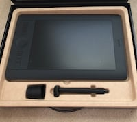 Intuos Pro Medium drawing tablet.  Only 6 months old and paid $320 at Best Buy.  Upgraded to a more advanced tablet. Works perfect. Indianapolis, 46237