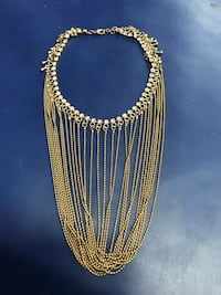 Necklace- hanging looped chains