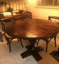 Reclaimed Barn wood Round Dining Table 551 km