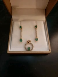 10k gold and diamond, columbian emerald set Barrie, L4N 4Y6
