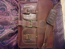 BRAND NEW 100% LEATHER  BRIEFCASE $50