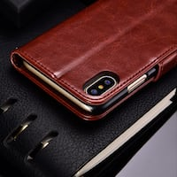 iPhone 10 leather deksel