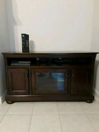 brown wooden TV stand with cabinet Spring, 77389
