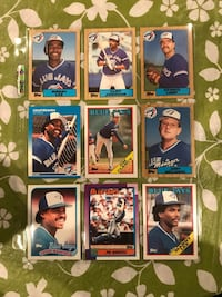 9 Blue Jays Baseball Cards From The 1980s. Calgary, T2M 2P2