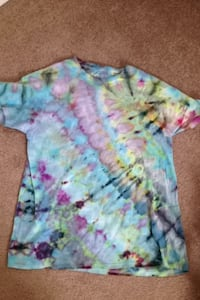 teal, pink, and yellow tie-dyed crew-neck t-shirt Williamsport, 21795
