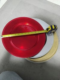 $50 for all plastic red, silver, and gold plates