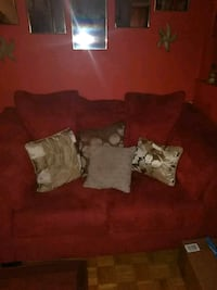 brown suede sofa with throw pillows Jackson, 39212