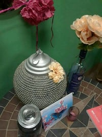 Silver glass beaded candle lamp New Bedford, 02740