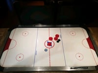 white and black air hockey table Toronto, M6J 3E5