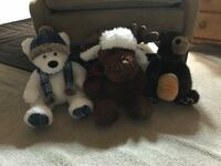 Teddy bears. 1) Gentle Treasures 2) Plush Moose 3) Boyd's The Head Bean Collection