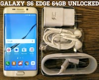 White Galaxy S6 Edge 64GB UNLOCKED w/ Accessories  Arlington