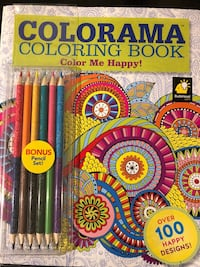 Colorama Coloring Book w/ Colored Pencils Rockville, 20853
