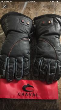 pair of black leather gloves Calgary, T2Z 1X6