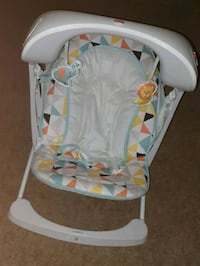 baby's white and gray cradle and swing Temple Hills, 20748