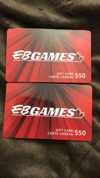 two EB Games gift cards