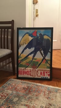 Large Spanish poster with frame New York, 10075