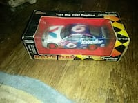 red and blue car die-cast model 169 km