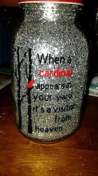 Glitter jar for a loved one they've lost lights up