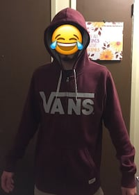 Maroon and white vans zip-up hoodie Calgary, T2S 2G2