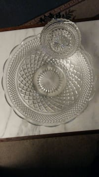 Crystal chip dip bowl - 3 pieces Burnaby, V5H 1H7