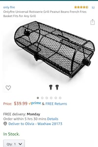 Rotisserie basket for grill Waxhaw, 28173