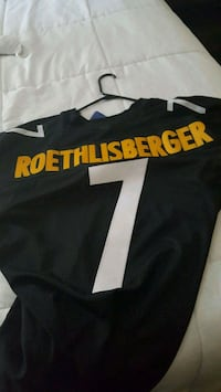 black and white Roethlisberger 7 jersey shirt\ Valrico, 33594