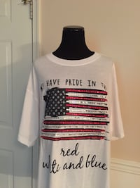 Custom 4th of July Blinged out American Flag T-Shirt Huntingtown, 20639