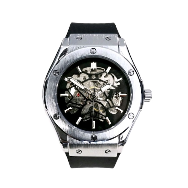 Designer styled fully automatic luxury watch mens