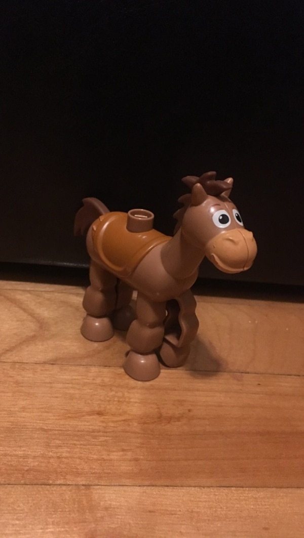 brown plastic horse toy