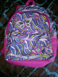 Butterfly Glitter light up backpack
