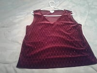 Holiday Top, Velvet, Cleo Size 12